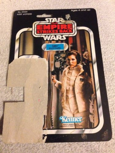 Star Wars Empire Strikes Back Leia Hoth Outfit  41 Vintage Card Back 1980