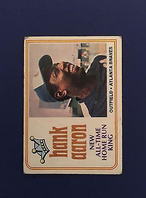 1974 Topps Baseball Hank Aaron #1, Complete