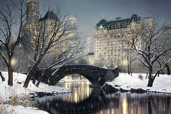 Twilight In Central Park by Rod Chase - Giclee canvas 30x45 $1500 now $1375