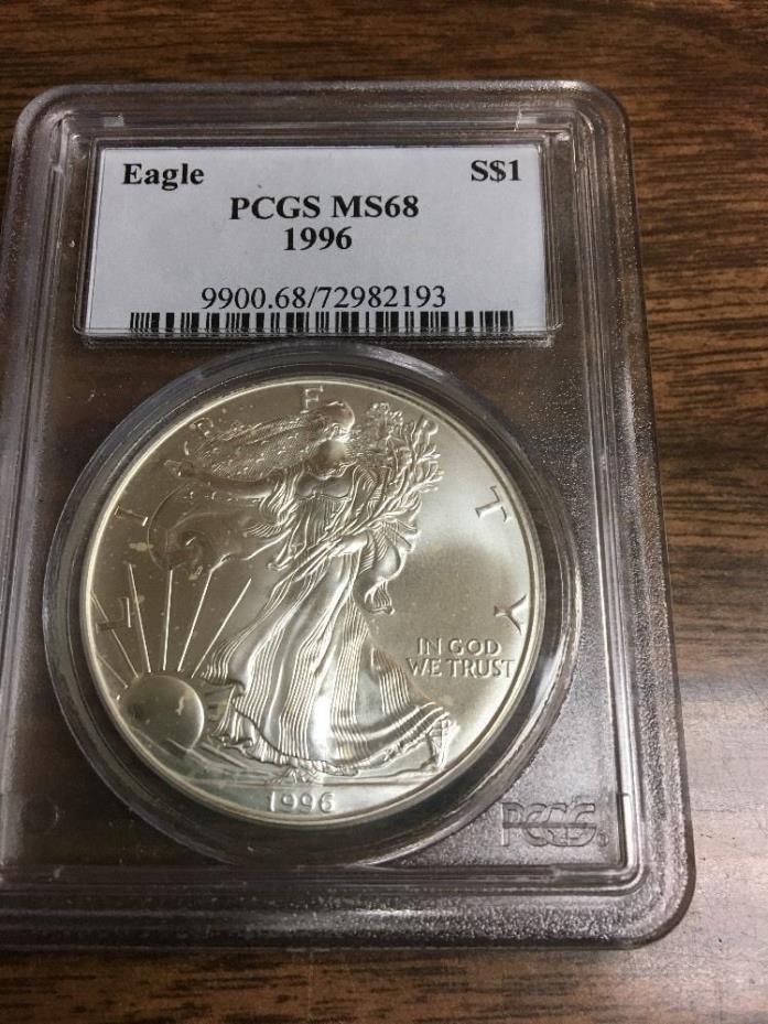 1996 Silver American Eagle PCGS MS 68