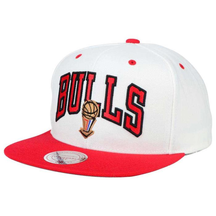 Mitchell and Ness NBA Chicago Bulls 1996 Jersey Hook Snapback Cap/Hat White/Red
