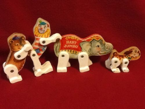 Vintage Fisher Price Junior Circus wood figures~