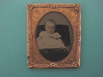 Antique Victorian Daguerreotype Tin type Baby Photo ambrotype civil war