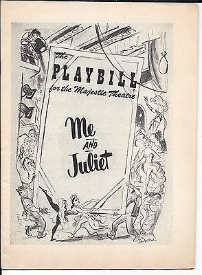 1953 Majestic Playbill ME AND JULIET Rogers and Hammerstein