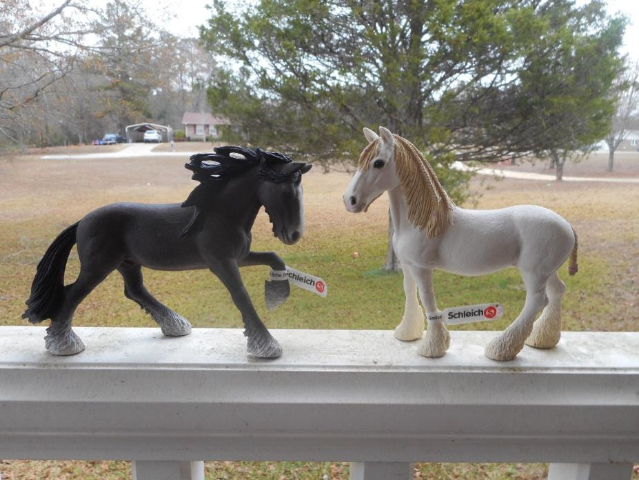 SHIRE HORSES  by Schleich; NEW 2013/horses/13734/13735/TOY/HORSE