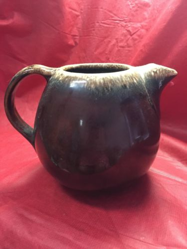 Vintage Hull Pottery Mirror Brown Drip Teapot
