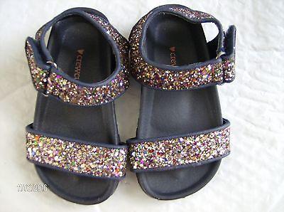 CREWCUTS Toddler Girls Glitter Slide Sandals Size K8