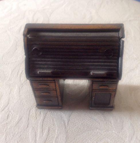 miniature metal rolltop desk pencil sharpener~doll house funiture~desk ornament