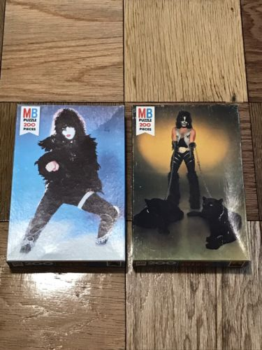 1978 Milton Bradley Kiss Paul Stanley Peter Criss Sealed Puzzles Aucoin Vintage