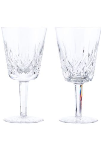WATERFORD CRYSTAL LISMORE WATER GOBLETS