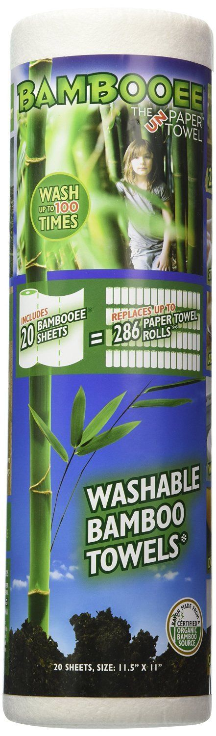 Bambooee Reusable Bamboo Towel Single roll 20 sheets NEW!