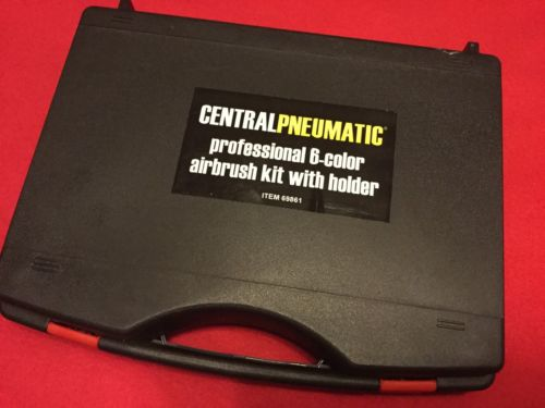 Central Pneumatic Professional 6-color Airbrush Kit