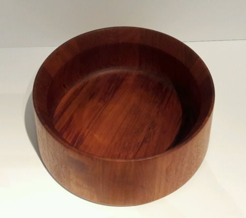 Fabulous Mid Century Modern Dansk Denmark Teak Wood Salad Serving Bowl 11 1/2in.