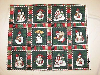 Christmas Snowmen Cotton Fabric - 1 Yard x 44