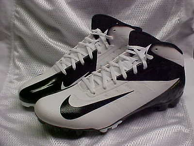 Nike Vapor Talon Elite 3/4 White/Black Football Cleats 511335-100 Size 12.5