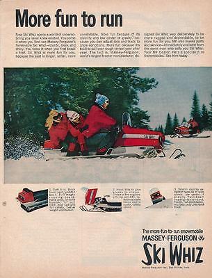 Vintage Magazine Ad - 1969 - Ski Whiz Snowmobiles