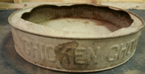 vintage galvanized chicken feeder