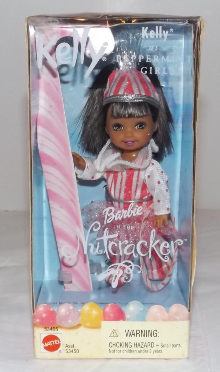 Barbie Doll Kelly as Peppermint Girl African American Barbie in the Nutcracker
