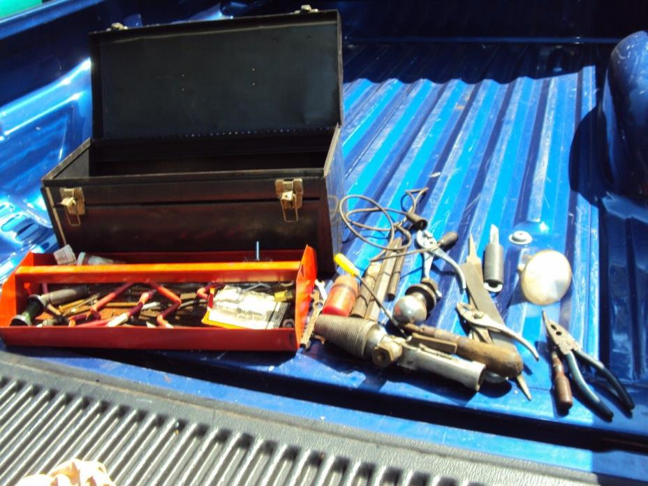 Vintage Antique Tool Lot with Tool Box