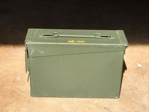 USGI Military Issue .30 Caliber Metal/Steel Ammo Can, Hunting/Shooting, OD Green