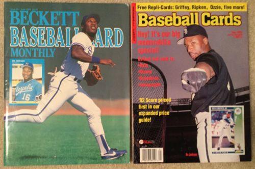 Beckett Baseball Card Monthly Bo Jackson Issue 51, June 1989 & Baseball Cards