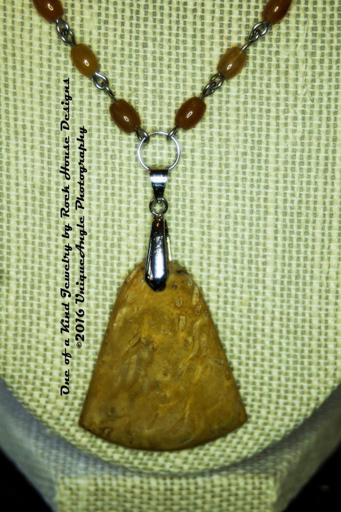unique pendant necklace - jasper, jade, silver - handmade #75534422