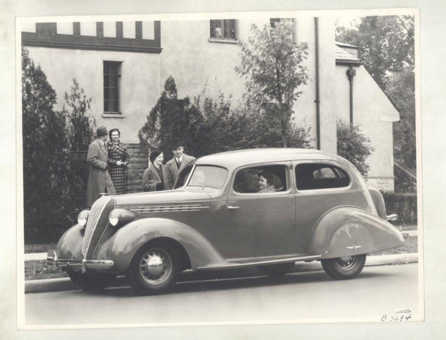 1936 Hudson Terraplane 2 Door ORIGINAL Factory Photograph ww5830