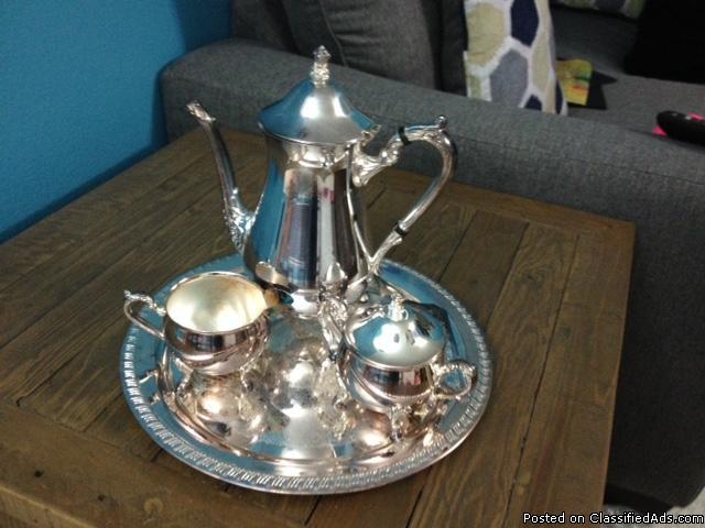 Leonard silver plated tea set
