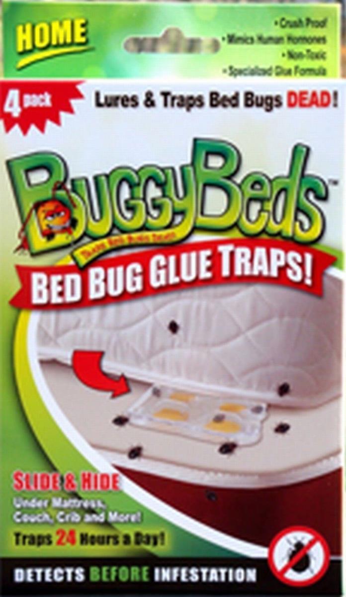 BuggyBeds  70440  4 Pack Bed Bug Glue Trap Home