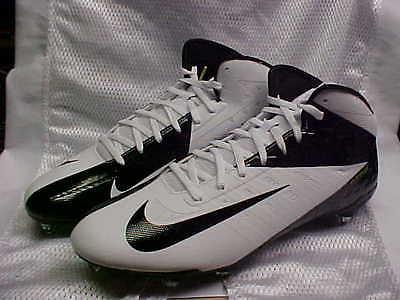 Nike Vapor Talon Elite 3/4 D White/Black Football Cleats 603743-100 Size 12.5