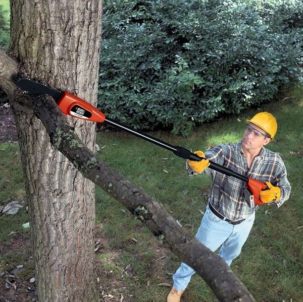 Pole Saw Cordless Chainsaw Cutting Tree Limbs Branches Chain Trim Rechargeable
