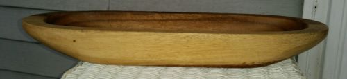 Crate & Barrel Modulus oblong wood wooden bowl
