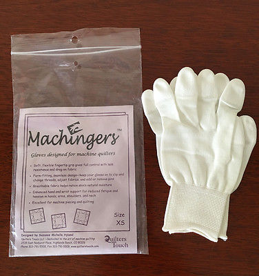 MACHINGERS Free Motion Machine Quilting Sewing Grip Gloves Extra Small XS
