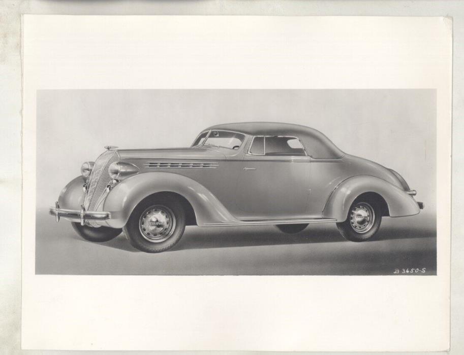 1936 Hudson Terraplane Convertible Coupe ORIGINAL Factory Photograph ww5836