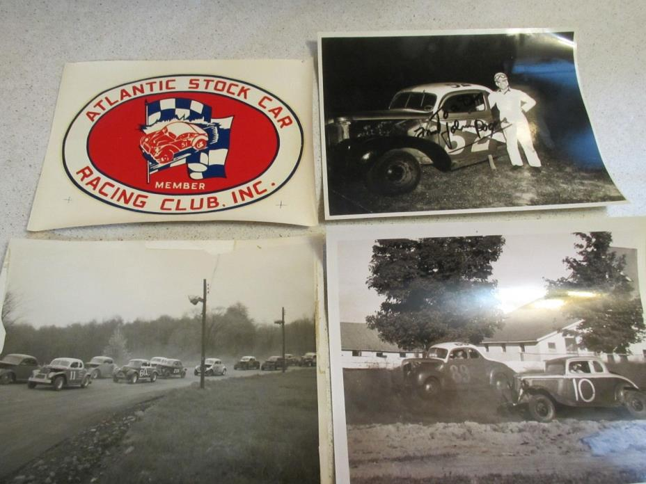 Vintage Stock Car Racing Photos