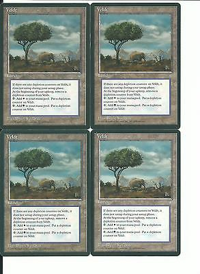 MTG: VELDT Ice Age RARE; played, Excellent condition x4