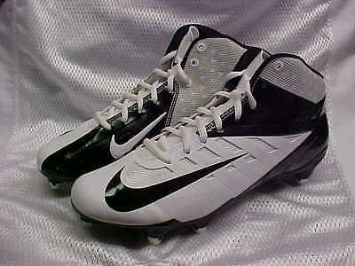 Nike Vapor Pro 3/4 D White/Black Football Cleats/shoes 511343-100 Size 11.5