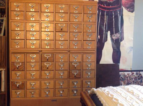 Library Bureau Card Catalog 60 Drawers