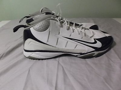 Nike Air Speed Nubby Men's Football Shoe White Black 318977 Size 19