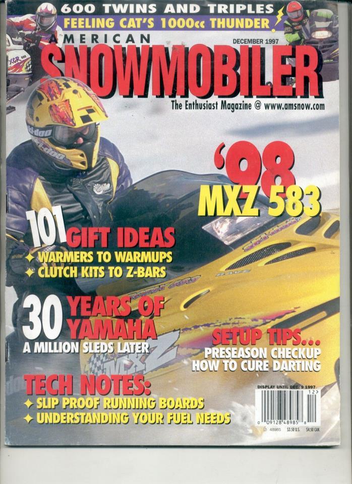 1997 SNOWMOBILE MAGAZINE 1998 Ski-Doo MXZ 583 Bob Cat Jay cat SMT Broncco Hornet