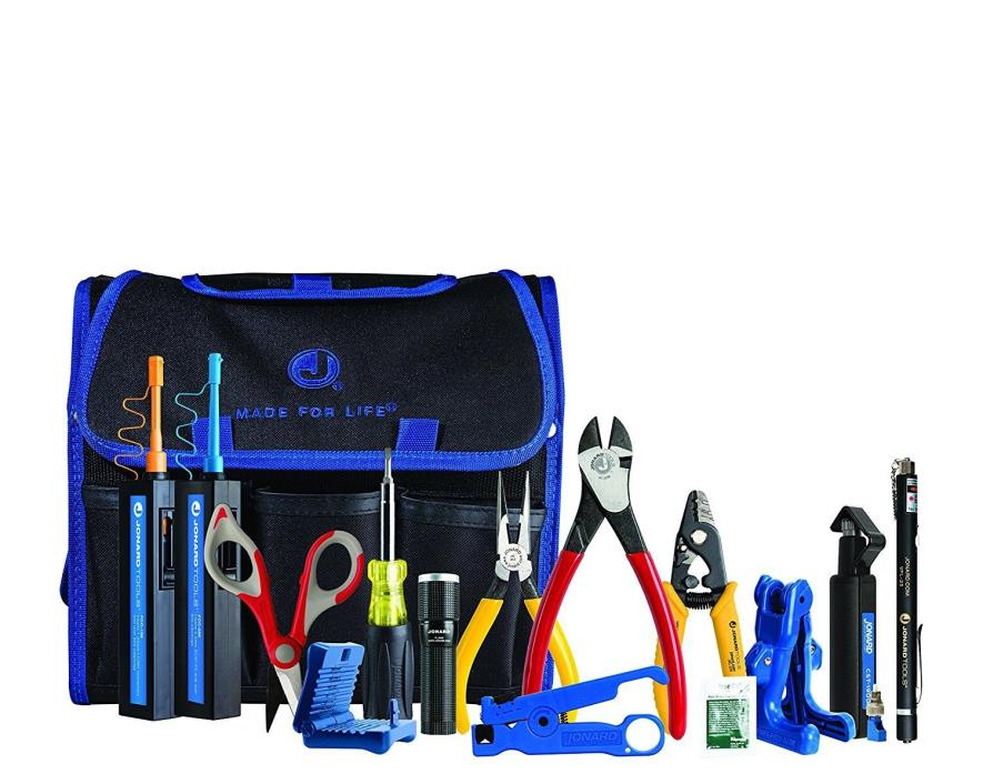 Jonard Tools TK-160 Fiber Prep Kit w/ Connector Cleaners & Visual Fault Locator