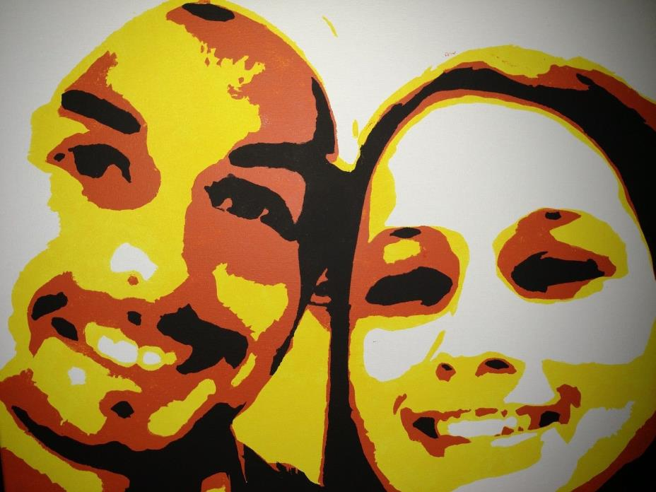 Custom Portrait Pop Art Painting on canvas 18 x 24