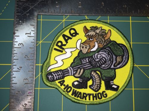 A-10 Thunderbolt II Patch. Iraq. A-10 Warthog.