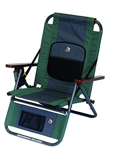 Travel Chair Recliner Lumbar Support Cushion Outdoor Living Easy Folding Transpo