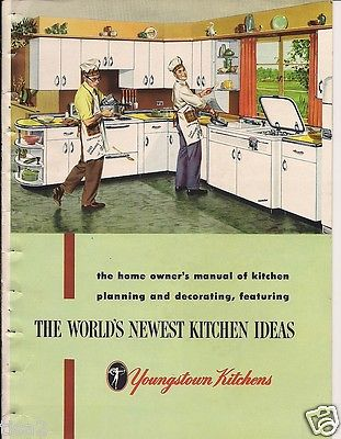 1952 YOUNGSTOWN KITCHENS Steel Cabinets Mid Century Modern Home Decor Vt Catalog