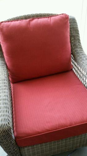 Hampton Bay Spring Haven & Oak Heights Patio Deep Seating Slipcover Dragonfruit