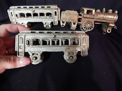 Vintage Cast Iron Train set