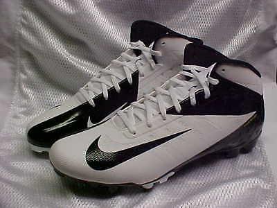 Nike Vapor Talon Elite 3/4 White/Black Football Cleats 511335--100 Size 11.5