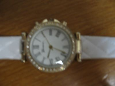 Women's Geneva Roman Numeral Quilted Leather Watch