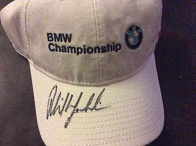 Phil Mickelson autographed BMW Championship cap, BNWOT Majors!